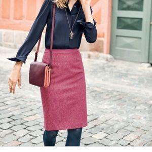Boden British Tweed Pencil Skirt